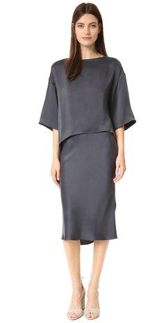 Narciso Rodriguez Silk Cocktail Dress | SHOPBOP