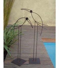Pájaros De Hierro Para Jardin, Deco Exterior - $ 490,00 en Mercado Libre