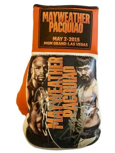 Floyd Mayweather Jr. and Manny Pacquiao Autographed Boxing Glove in Silver
