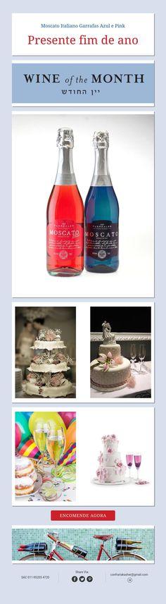 Moscato Italiano Garrafas Azul e Pink  Presente fim de ano