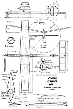 Make your own balsa 'plane instructions (or print out and