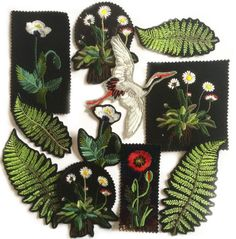 These EllieMAC Designs.embroidery patches would be amazing for DIY-Ing the denim - Mens Gucci - Ideas of Mens Gucci - These EllieMAC Designs.embroidery patches would be amazing for DIY-Ing the denim mens jacket that has all over the runways now Embroidery Patches, Diy Embroidery, Embroidery Patterns, Machine Embroidery, Ellie And Mac, Pin And Patches, Diy Patches, Embroidery Fashion, Cute Pins