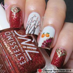 8 Best Nails Chinese New Year Images On Pinterest Uas De Ao