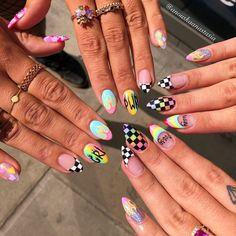 Semi-permanent varnish, false nails, patches: which manicure to choose? - My Nails Summer Acrylic Nails, Best Acrylic Nails, Cute Acrylic Nails, Acrylic Nail Designs, Nail Art Designs, Nails Design, Summer Nails, Aycrlic Nails, Swag Nails