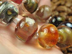 Into the Fire Lampwork Art Beads ~Delgatto~ Artist handmade glass beads OOAK SRA #Lampwork