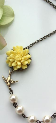 bird + bloom necklace