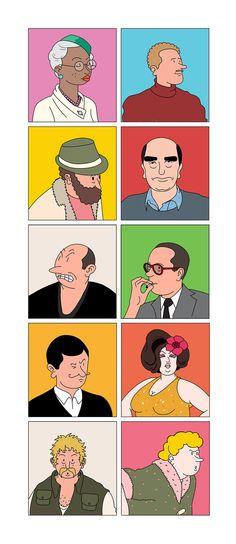 Portraits by Jean-Michel Tixier — Agent Pekka People Illustration, Jean Michel, Illustrator Tutorials, Drawing For Kids, Illustrations Posters, Simple Designs, Art Inspo, Illustrators, Muse