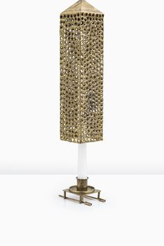 Pierre Forsell ceiling lamp candlestick by Skultuna at Studio Schalling #skultuna #forsell #brass