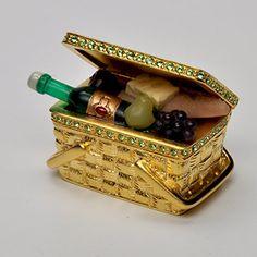 2001 Estee Lauder ELEGANT PICNIC Solid Perfume Compact Collection