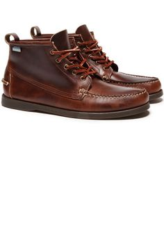 sebago leather beacon boot