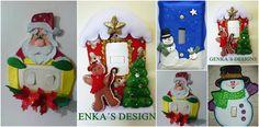 13.- Corta fieltro blanco y decora la casita con estos 2 moldes Christmas Door, Xmas, Christmas Ornaments, Ideas Decoracion Navidad, Advent Calendar, Holiday Decor, Ideas Decoración, Design, Home Decor