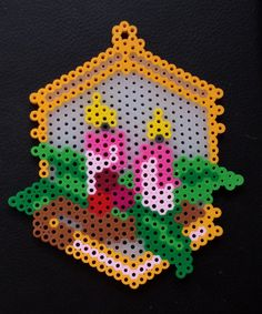 Week 30, Day 205, Candles. 365 Day Perler Bead Challenge.