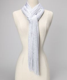 Take a look at this Silver Net Scarf by Suvelle on #zulily today!