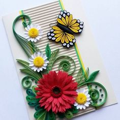 Beautiful mom birthday card - Mother's Day Card - Card for her - Happy Birthday Card for wife, mum, daughter, friend, girl Quilling Cards, Paper Quilling, Quilling Ideas, Birthday Cards For Mom, Mom Birthday, Picture Frame Crafts, Flower Cards, Making Ideas, Card Card