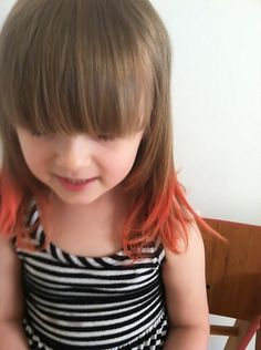 Children Who Rocked Alternative Hair Colors.so adorable! Pretty classy for this lil chick,love it! Hair Dye For Kids, Kids Hair Color, Hair Dye Colors, Pink Peekaboo Hair, Pink Hair, Dip Dye Hair, Dyed Hair, Dip Dyed, Funky Hairstyles