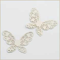 ivory metal butterfly embellishment