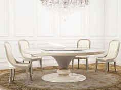 Download the catalogue and request prices of Caractere   round table By turri, round marble table with lazy susan, caractere Collection Furniture Dining Table, Round Dining Table, Home Decor Furniture, Luxury Furniture, Dining Chairs, Round Marble Table, Luxury Interior, Interior Design, Furniture Factory