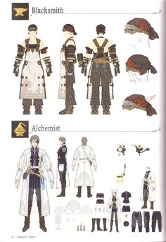 talesfromtheend:  akuosa:  Crafter and gatherer AFs, from the Collectors Edition artbook.  yooooooo