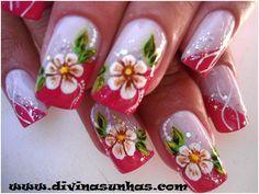 unhas decoradas Glam Nails, Hot Nails, Beauty Nails, Hair And Nails, Country Nails, Nails First, Nail Growth, Glitter Nail Art, Flower Nails