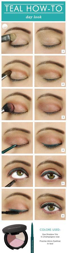 (Makeup Tutorial: Creating a Daytime Look Using Teal Eyeliner