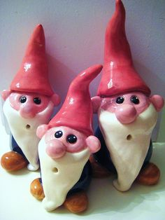 gnomes by Binx Ceramic, via Flickr