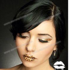 Temporary lips tattoo Leopard temporary lip tattoo Makeup Lipstick