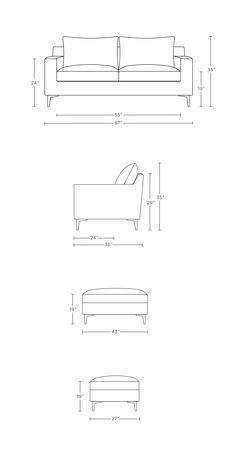 Sloan strikes an ideal balance between sleek and soft. The Sloan custom apartment sofa's design reflects a modern influence, yet is approachable and Drawing Furniture, Sofa Furniture, Furniture Design, Living Room Sofa Design, Apartment Sofa, Shop Interiors, Best Interior, Interior Shop, Sofa Set