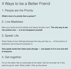 So yeah  ... the plan this week?  People are the Priority.  Friendships just don't happen... they are *forged*