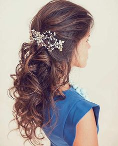 Curly Half Up Style for Long Hair