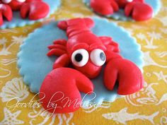 12 fondant lobster toppers by GoodiesByMelissa on Etsy, $25.00