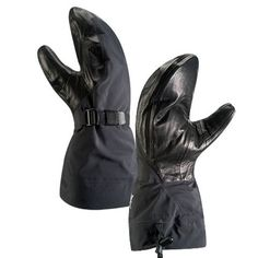 Arcteryx Alpha SV Mitt Black Medium Claimed Weight: (medium) 9.3 oz. Nose Wipe: yes. Gauntlet: yes. Closure: wrist cinch. Hand-warmer Pocket: no.