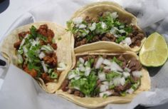 Taco Night: Chop flank steak into thin cubes & cook in skillet with the juice of 1 lime & steak seasoning. Serve on 2 corn tortillas with guacamole, fresh onions & cilantro, with a squeeze of lime. The perfect authentic Mexican Taco!