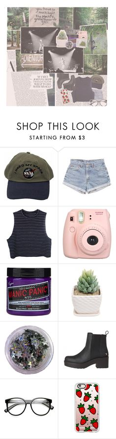 """""""don't make me sad, don't make me cry sometimes love is not enough and the road gets tough i don't know why keep making me laugh, let's go get high the road is long, we carry on try to have fun in the meantime"""" by peach-cxke ❤ liked on Polyvore featuring Levi's, Fujifilm, Manic Panic NYC and Casetify"""