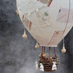 Globo aerostático DIY Escayolado