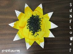 Preschool Paper Plate Sunflower