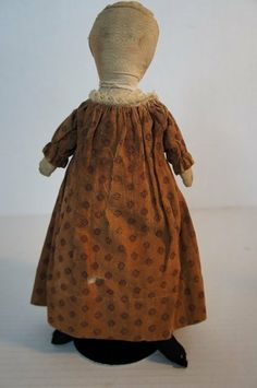 "10 1/2"" antique cloth doll with all original clothes"