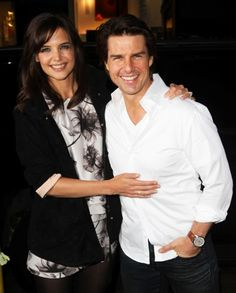 Katie Holmes and Tom Cruise at The Romantics premiere Celebrity Couples, Celebrity Photos, John Gavin, Girls Together, Stylish Couple, Family Cruise, Christian Bale, Katie Holmes, Tom Cruise