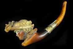 Victorian Mirsham carved pipe
