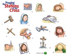 The 14 Stations Of The Cross Stickers ... Make a Countdown Calendar to Easter Sunday