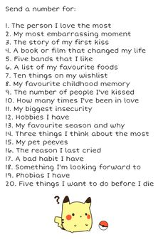 Ask me anything on this list!