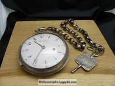 Große Silber Spindeltaschenuhr John Ward Schlüsselaufzug ca. John Ward, Pocket Watch, Watches, Accessories, Necklaces, Silver, Wrist Watches, Pocket Watches, Wristwatches