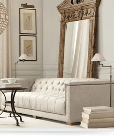 This so fits with my Restoration Hardware style