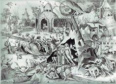 Pieter Bruegel the Elder- The Seven Deadly Sins or the Seven Vices - Lechery