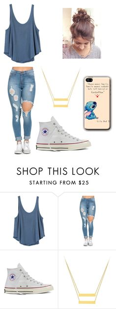 """Untitled #500"" by jessica-smith-xxv ❤ liked on Polyvore featuring RVCA and Converse"