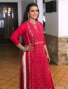 Beautiful My favourite actress with beautiful Kurti. Pakistani Dresses, Indian Dresses, Indian Outfits, Salwar Designs, Blouse Designs, Indian Attire, Indian Wear, Indian Designer Outfits, Designer Dresses