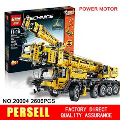 NEW LEPIN 20004 technic series 2606pcs Motor power mobile crane MK Model Building blocks Bricks Compatible with LEGOe Boys Gift-in Blocks from Toys & Hobbies on Aliexpress.com | Alibaba Group
