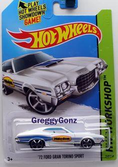 Hot Wheels '72 Ford Gran Torino Sport * HW Workshop Series * White #HotWheels #Ford