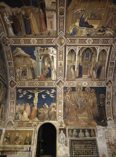 Giotto (and Cimabue), North Transept, Lower Church, Assisi, c.1310s