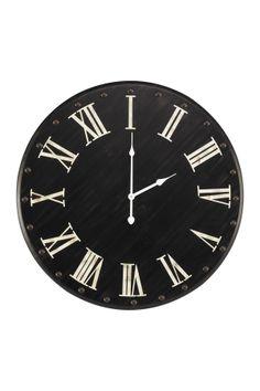 Black Wall Clock.