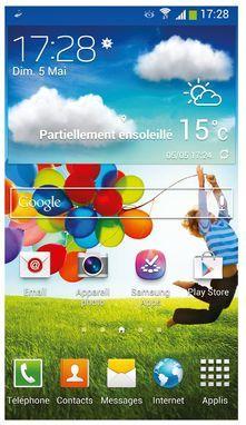 écran d'accueil du Galaxy s4